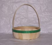 10″ Round Tray Dyed Bands with Handle