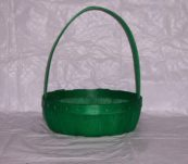 10″ Round Tray Dyed with Handle