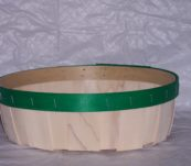 12″ Round Tray Dyed Bands without Handle
