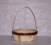 12″ Round Tray Dyed Bands with Handle