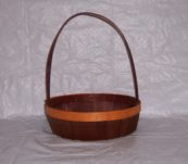 12″ Round Tray Dyed with Handle