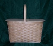 Extra Large Picnic Basket with Split top Lid