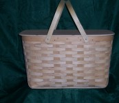 Extra Large Picnic Basket with Solid Top Lid