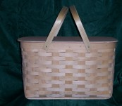 Large Picnic Basket with Solid Lid
