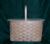 Large Picnic Basket with Split Top Lid
