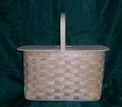 Large Picnic Basket with Split Top Lid