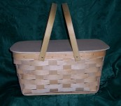 Small Picnic Basket with Solid Top Lid