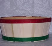 Half Bushel Tub Dyed Bands without Handle