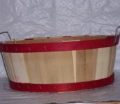 Half Bushel Tub Dyed Bands with Handle