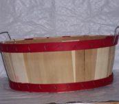 Half Bushel Tub Dyed Bands with Handle