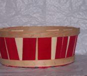 Half Bushel Tub Two Tone without Handle