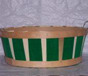 Half Bushel Tub Two Tone with Handle